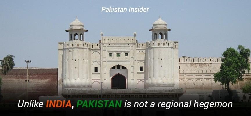 Unlike India, Pakistan is not a regional hegemon