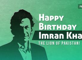 Happy Birthday Imran Khan. The Lion of Pakistan!