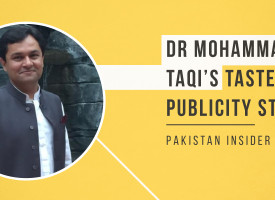 Dr Mohammad Taqi's Tasteless Publicity Stunt