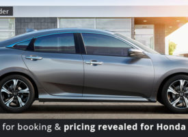 Guidelines for booking and pricing revealed for Honda Civic 2016