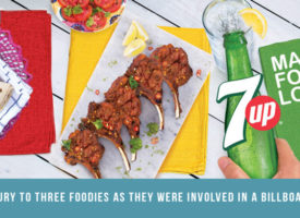 7Up gives luxury to three foodies as they were involved in a billboard movement