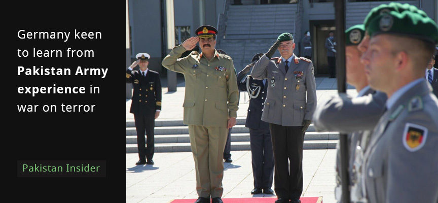 Germany keen to learn from Pakistan Army experience in war on terror