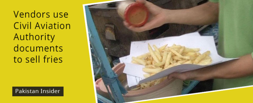 Vendors use Civil Aviation Authority documents to sell fries