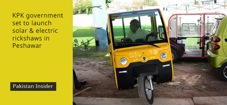 KPK government set to launch solar and electric rickshaws in Peshawar