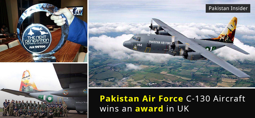Pakistan Air Force C-130 Aircraft wins an award in UK