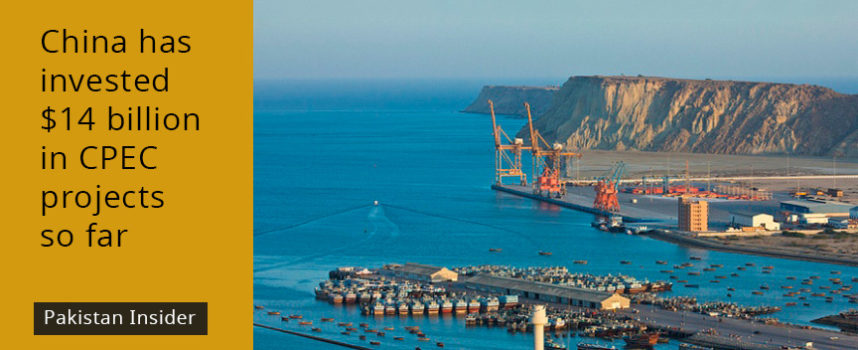China has invested $14 billion in CPEC projects so far