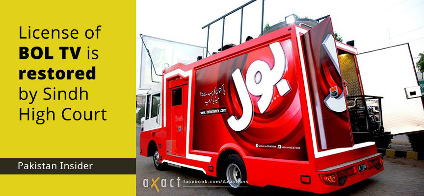 License of BOL TV is restored by Sindh High Court