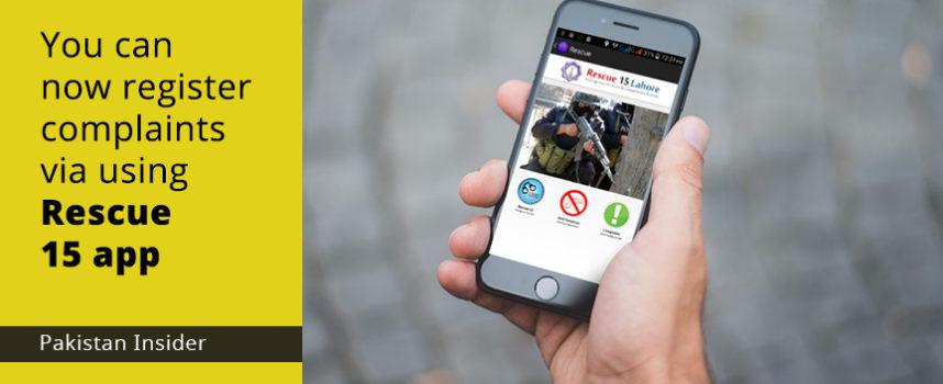 You can now register complaints via using Rescue 15 app