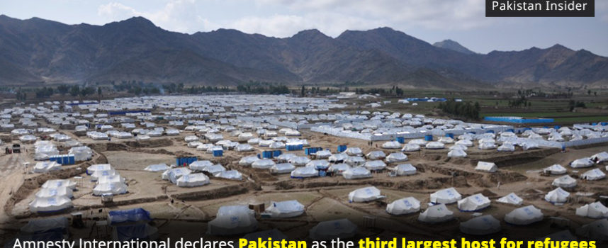 Amnesty International declares Pakistan as the third largest host for refugees
