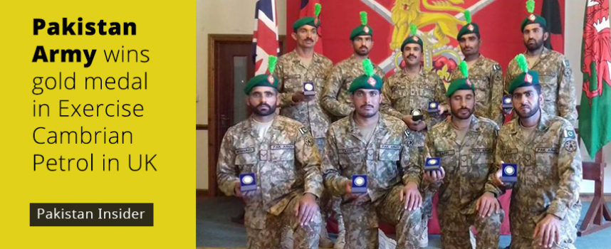 Pakistan Army wins gold medal in Exercise Cambrian Petrol in UK