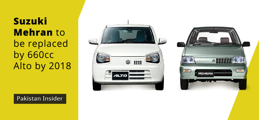 Suzuki Mehran To Be Replaced By 660cc Alto By 2018 Pakistan Insider