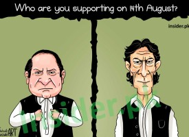 Illustration: Imran Khan vs Nawaz Sharif?