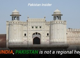 Unlike India, Pakistan is not a regional hegemon