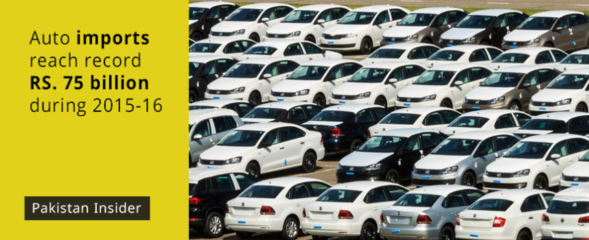 Auto imports reach record Rs. 75 billion during 2015-16
