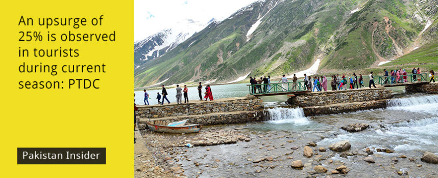 An upsurge of 25% is observed in tourists during current season: PTDC