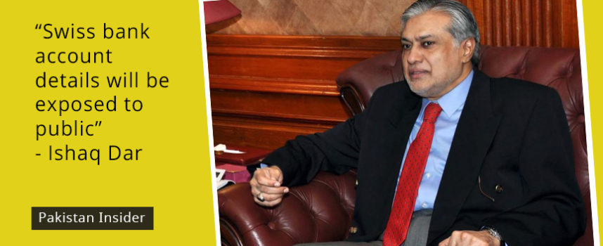Swiss bank account details will be exposed to public: Ishaq Dar
