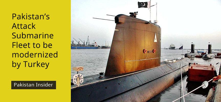 Pakistan's Attack Submarine Fleet to be modernized by Turkey